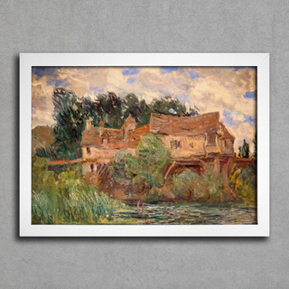 Monet - Houses on the Old Bridge at Vernon Circa - comprar online