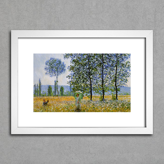 Quadro Monet - Sunlight Effect Poplars Sun  na internet