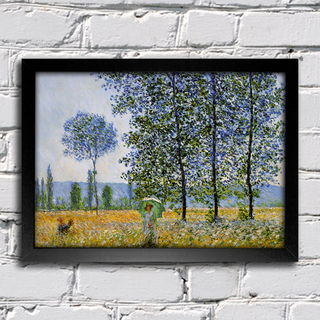 Monet - Sunlight Effect Poplars Sun