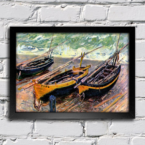 Monet - Three Fishing Boats