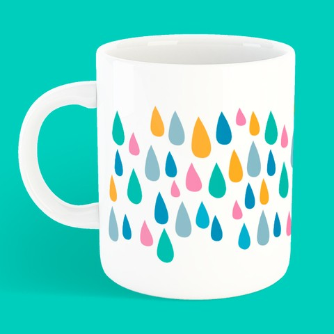 Caneca Colourful Rain na internet