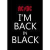Poster AC/DC I'm Back in Black na internet