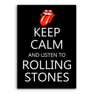 Poster Keep Calm and Listen to Rolling Stones na internet