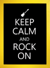 Poster Keep Calm and Rock On - comprar online