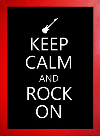 Poster Keep Calm and Rock On - loja online
