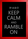 Imagem do Poster Led Zeppelin Keep Calm and Ramble On