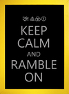 Poster Led Zeppelin Keep Calm and Ramble On - loja online