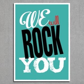 Imagem do Poster Queen - We Will Rock You