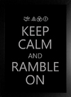 Poster Led Zeppelin Keep Calm and Ramble On - comprar online