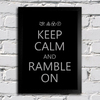 Poster Led Zeppelin Keep Calm and Ramble On - Encadreé Posters