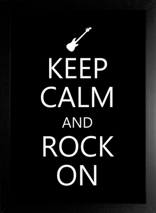 Poster Keep Calm and Rock On