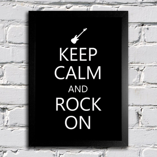 Poster Keep Calm and Rock On na internet