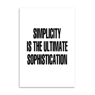 Poster Simplicity  is the Ultimate Sophistication - loja online
