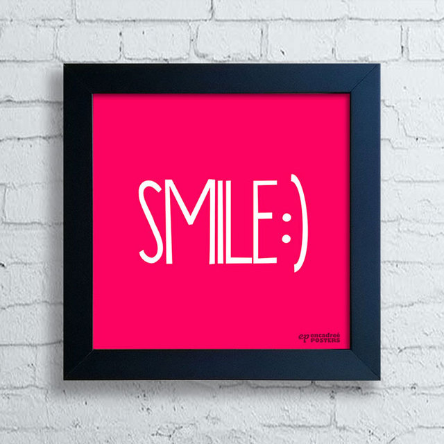 Quadro Decorativo Frases Smile