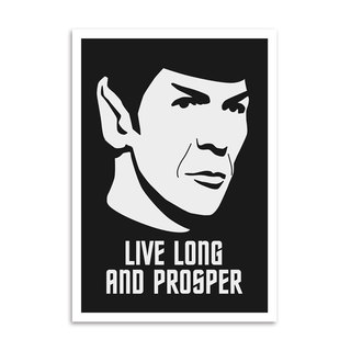 Poster Live Long and Prosper na internet
