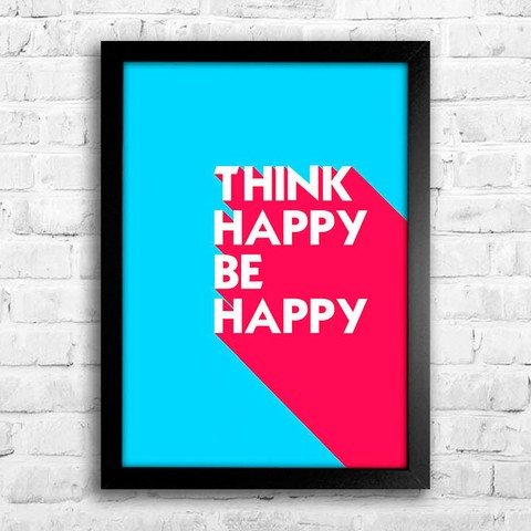 Poster Think Happy Be Happy - comprar online