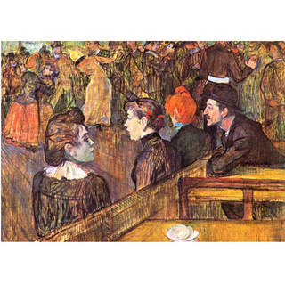 Toulouse Lautrec - Ball at the Moulin de la Galette na internet