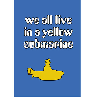 Poster Beatles We All Live in a Yellow Submarine na internet