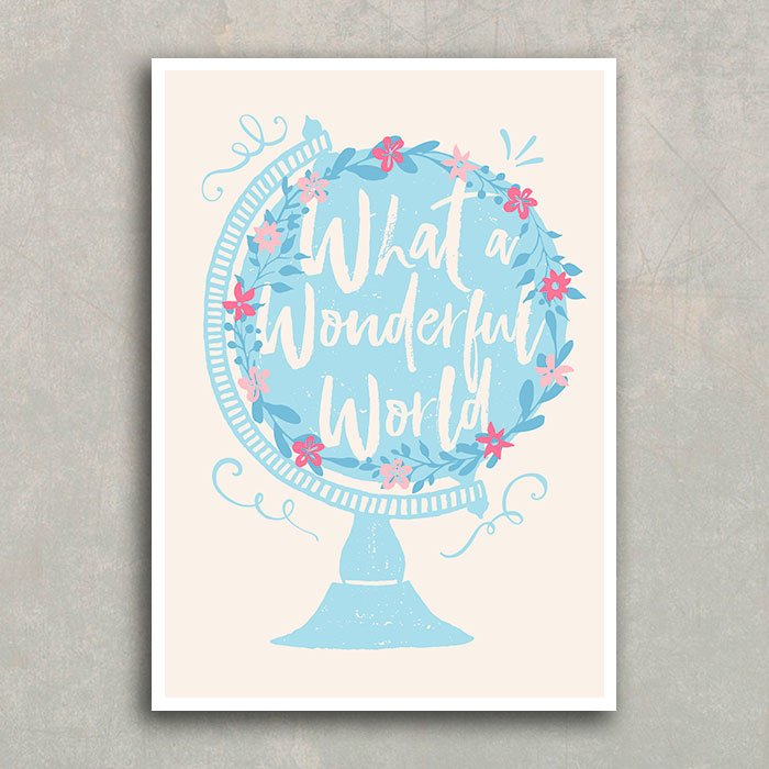 Poster What A Wonderful World Encadre Posters