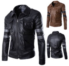 Jaqueta Couro Resident Evil Motorcycle - 01