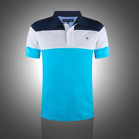 Camisa Polo Tommy MD11 - Azul