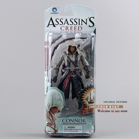 Boneco Assassins Creed III Connor Action Figure 14 cm Altura - MD01 - comprar online