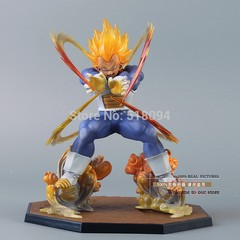 Boneco Dragon Ball Z Super Saiyan Vegeta 15 cm Altura - MD01