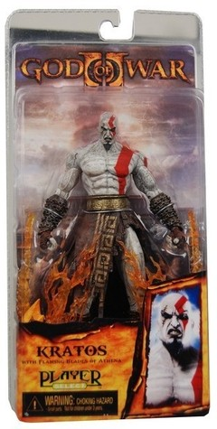 Boneco God of War Kratos com Flaming Blades of Athena 18 cm Altura - MD01