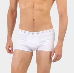 Cueca Boxer Branca Just For Man