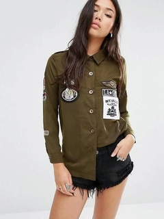 Camisa Militar com Patches - Ref.917