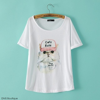 Camiseta Cat Rule - Ref.430 na internet