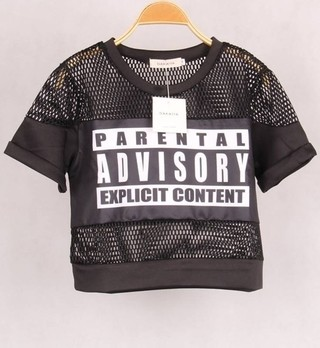 Cropped Top Parental Advisory 2