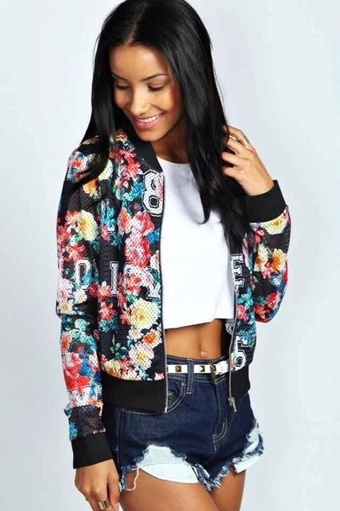 Jaqueta bomber feminina p ssaros compre online dms - Boutique free angouleme numero ...