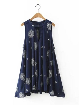 Vestido Casual Estampado Boho - Ref.667 - DMS Boutique