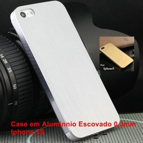 Case Iphone 5S - Alumínio Escovado 3 mm