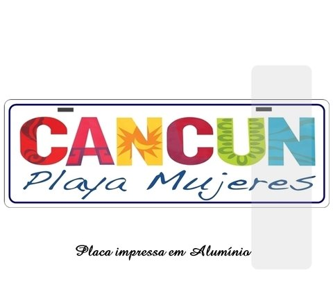 Placa Decorativa modelo e Estilo Cancun Playa Mujeres na internet