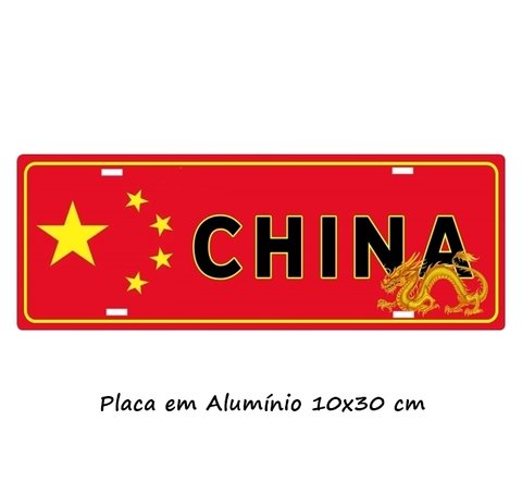 Placa Decorativa modelo Carro CHINA - Produtos personalizados e presentes