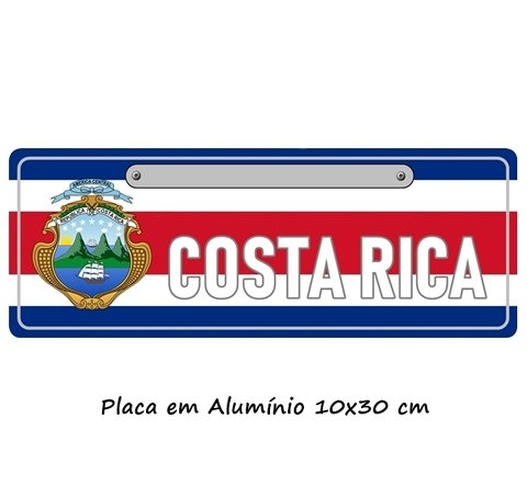 Imagem do Placa Decorativa modelo Carro da Costa Rica
