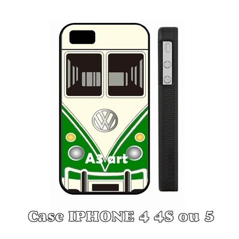 Capa Iphone 4 4S - 5 5S 5C e 6 - Kombi Retro Verde