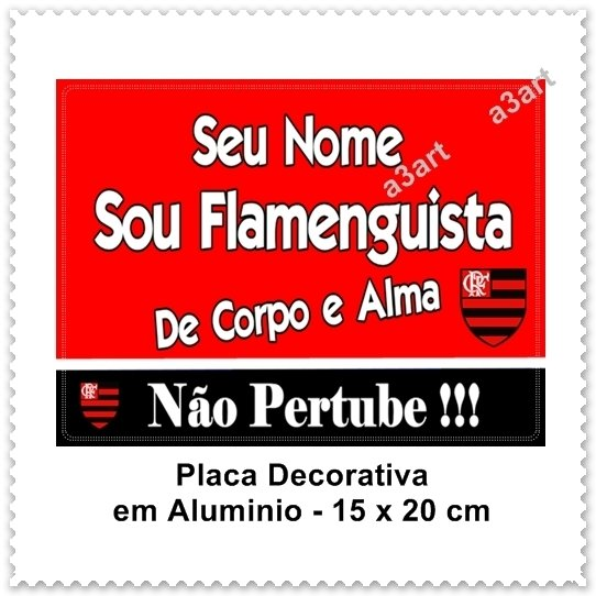 Placa Decorativa - Tema Flamengo