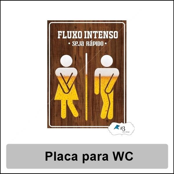 Placa decorativa para porta de banheiro fluxo intenso - Placas decorativas pared ...