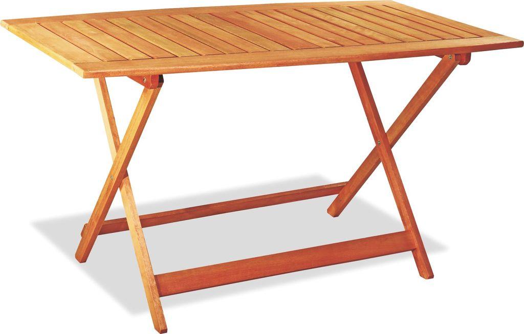 Juego de mesa de madera con 6 sillas amancay plegables for Sillas plegables jardin