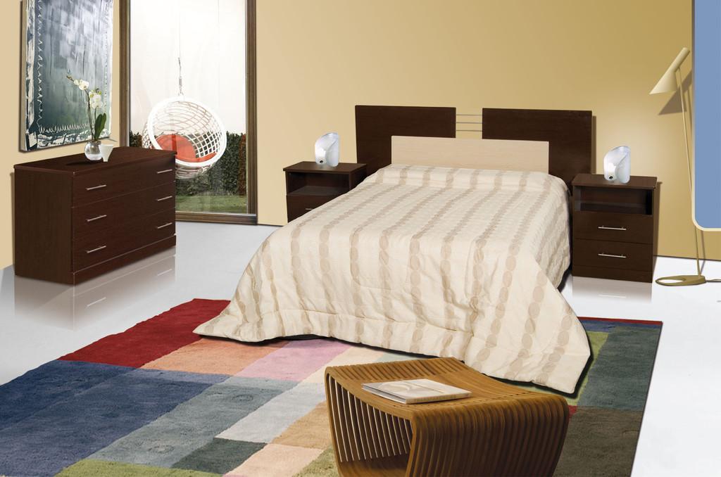 Juego de dormitorio m dena 2 mesas de luz respaldo for Juego de dormitorio usado