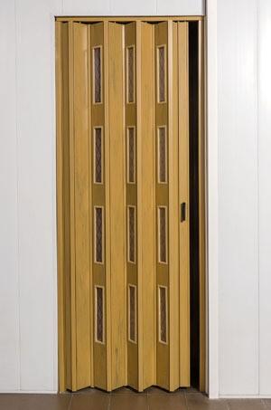 Puerta plegadiza 75x200 con 4 vidrios comb reforzada pvc 10mm for Puertas 75 x 200