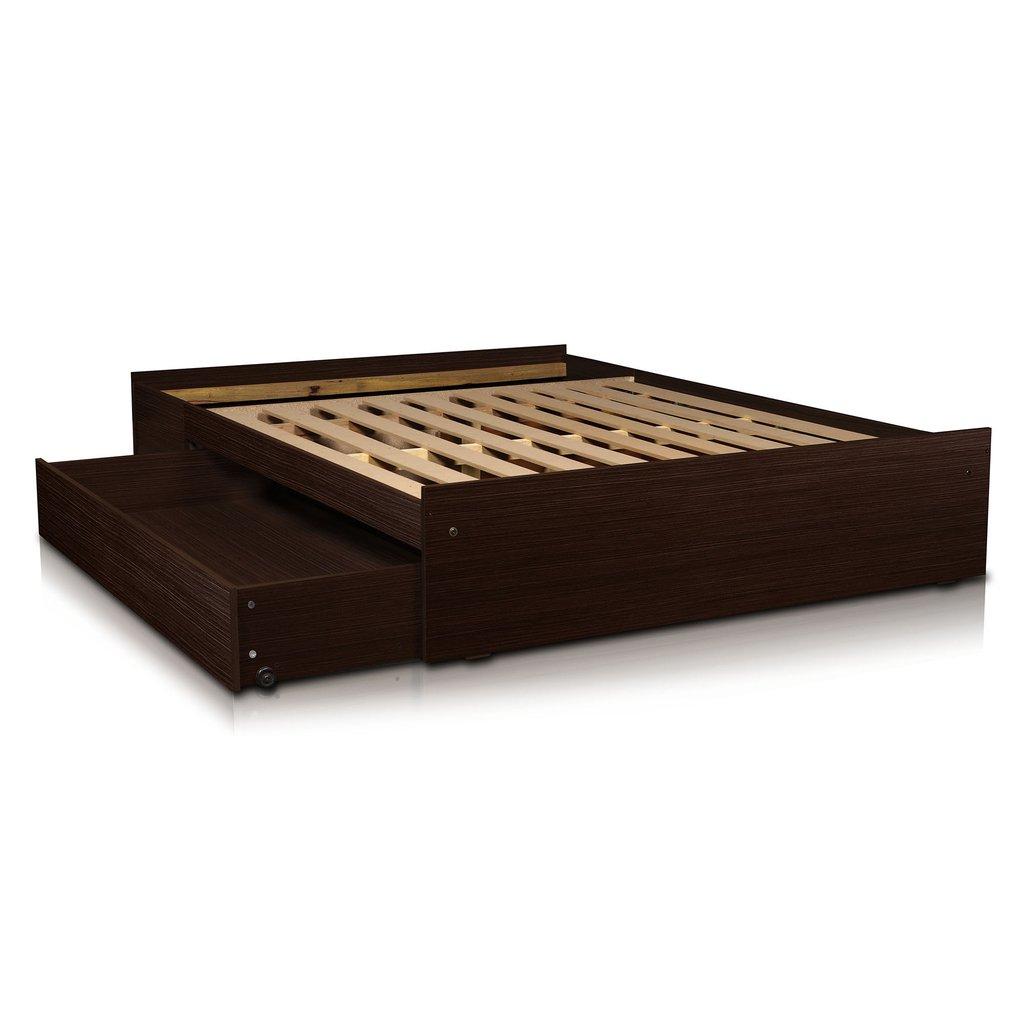 Box sommier base somier cama 2 plazas cajones y baulera - Somier con cajones ...