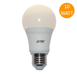 LAMPARA LED BAW E27 10W BLANCO CALIDO