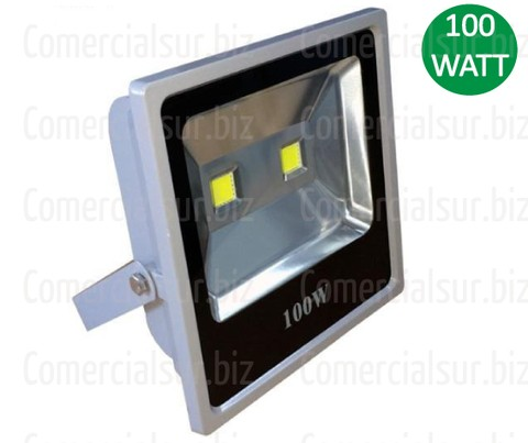 Reflector LED 100W Doble LED Blanco Frio Exterior