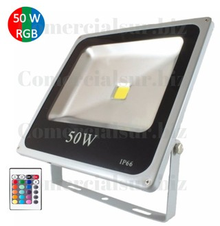 Reflector Led 50 Watts Exterior Proteccion IP 66 RGB + Control Remoto