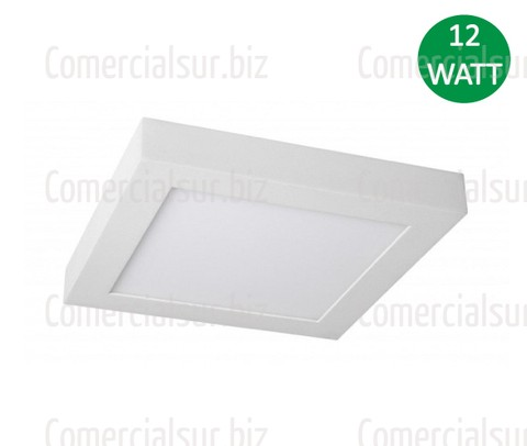 Panel Plafon LED Cuadrado Aplique de 12W Blanco Frio