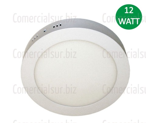 Panel Plafon LED Redondo Aplique de 12W Blanco Frio